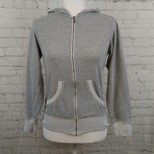 Columbia Women Hooded Full Zip Gray Jacket Size XS